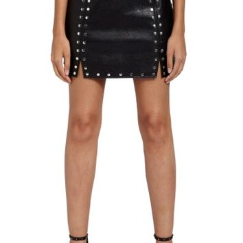 Missguided Studded Faux Leather Miniskirt | Nordstrom