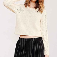 Silence + Noise Cable-Sleeve Sweater-