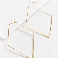 18k Gold-Plated Geometric Hoop Earring   Urban Outfitters