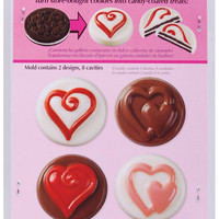 8 cavity cookie candy mold hearts - 2 designs