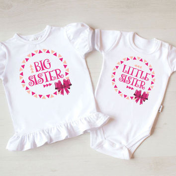 BIG SISTER IRON ON TRANSFER OR STICKER GOLD GLITTER LOOK MATERNITY BABY BOHO