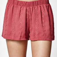 LA Hearts Tonal Embroidered Soft Shorts at PacSun.com