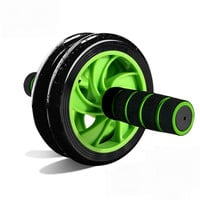 New Arrive No noise Mute Ab Rollers Green Abdominal Wheel Muscle Training Fitness Equipment Accessory For Home Gym Workout