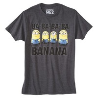 Despicable Me Minions Men's Graphic Tee - Charcoal