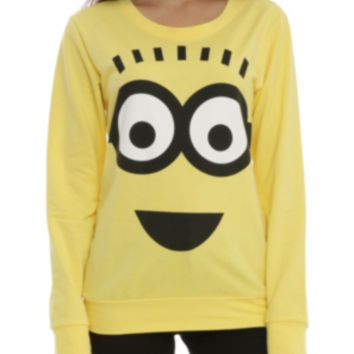 Despicable Me Minion Cosplay Girls Pullover Top
