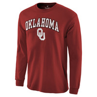 Men's Crimson Oklahoma Sooners Campus Long Sleeve T-Shirt
