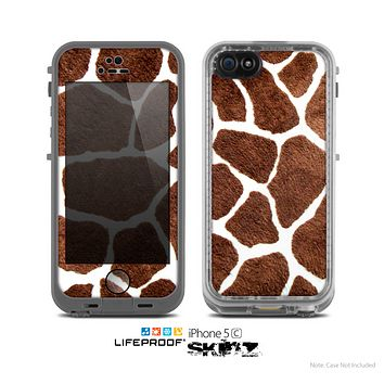 The Real Giraffe Animal Print Skin for the Apple iPhone 5c LifeProof Case