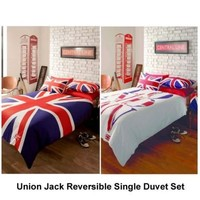 Union Jack & London Reversible Single Duvet Set