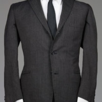 Vintage 60s Hart Schaffner Marx Charcoal 3/2 Button Roll Blazer/Jacket 42 S Monkey Suit