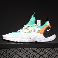 NIKE HUARACHE E.D.G.E.TXT QS 7th generation functional running shoes mint green white orange