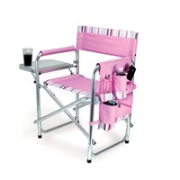 Picnic Time Portable Folding Sports Chair, Pink