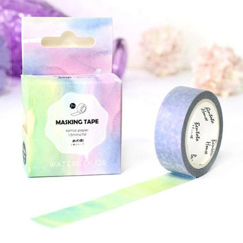 JA313 The Fancy Color of Water Decorative Washi Tape DIY Scrapbooking Masking Tape School Office Supply Escolar Papelaria