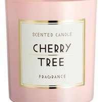 Scented candle in glass holder - Light pink/Cherry tree - Home All | H&M GB