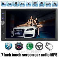 2015 NEW 7'' inch LCD Touch screen car radio player BLUETOOTH hands free 1080P movie rear view camera 2 din car audio stereo mp5