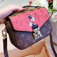 Louis Vuitton LV x Disney Women Shopping Bag Leather Handbag Tote Shoulder Bag Crossbody Satchel