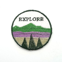 Embroidered Patch/Felt Patch/Mountains/Explore Patch/Kids Patch/Sew On/Iron on