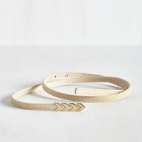 Subtly Stunning Belt in Sand by ModCloth