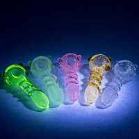Empire Glass Sparkling UV Spoons Glass Pipe