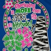 SALE Southern Chics Funny Cheer Sport Cheerleader Sweet Girlie Bright Shirt