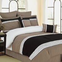 12pc Queen Wly Taupe Bed in a Bag Includes 600TC Sheet Set!