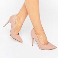 New Look Wide Fit | New Look Wide Fit Gold Trim Pointed Heel at ASOS