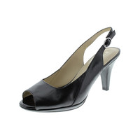 Naturalizer Womens Ivy Leather Slingback Peep-Toe Heels