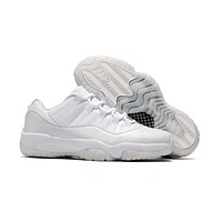 Air Jordan Retro 11 Low Heiress White Basketball Shoes Men Women 11s Low All White Heiress Sneakers With Shoes Box