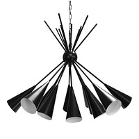 Channing Black Cluster Chandelier by Worlds Away