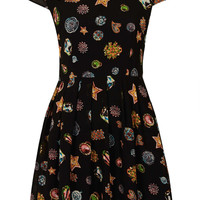 **Muriann Jewel Printed Dress by Jovonnista - Dresses - Clothing - Topshop USA