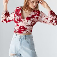 Rolla's X UO Delilah Cropped Wrap Top | Urban Outfitters Canada