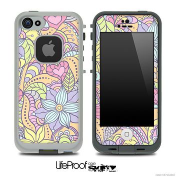 Subtle Abstract Flower Pattern Pattern Skin for the iPhone 5 or 4/4s LifeProof Case