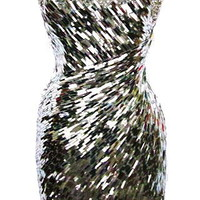Ice Storm Dress | Silver Sequin Glass Dresses | Rickety Rack