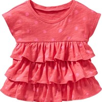 Old Navy Polka Dot Ruffle Tees For Baby
