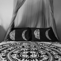 PRE-ORDER Dark Side of the Moon Phase Pillow Case Set