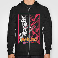 Half Face Naruto and Kyubi Hoody by Timeless-Id