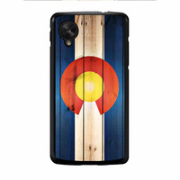 Colorado State Flag Wood Design Nexus 5 Case