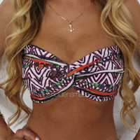 Spandex Bandeau  Tribal Print by Holdensmaaa on Etsy