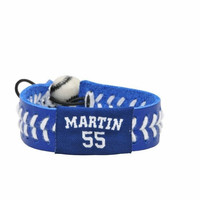 Gamewear MLB Leather Wrist Band - Los Angeles Dodgers - Randy Martin - Team Colors