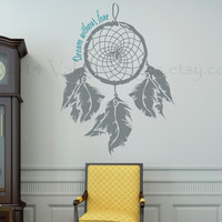 Dream without fear dream catcher vinyl wall decal, home decor, housewares, wall art