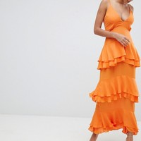 Missguided Strappy Tiered Maxi Dress at asos.com