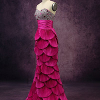Custom Made Sweetheart Sequin Bodice Mermaid Prom Dress Evening Dress Party Dress Mermaid Gown