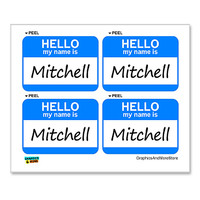 Mitchell Hello My Name Is - Sheet of 4 Stickers