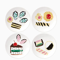 one smart cookie set of 4 tidbits plates