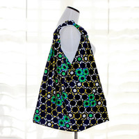 Blue Green Yellow and White Stylish Origami Bag Mod