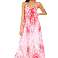 Biarritz scoop neck maxi dress in whitewater anthurium