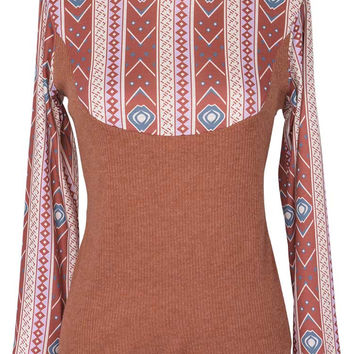 Cupshe Roll With Me Hooded Splicing Top