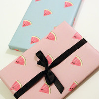 Printable wrapping paper -  Watermelon Two colors Instant Download