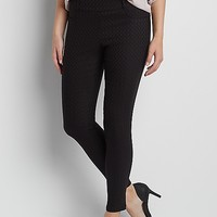 the smart IT fit pull on skinny ankle pant in textured diamond print | maurices