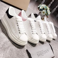 Alexander McQueen fashion casual shoes women's shoes thick leather shoes