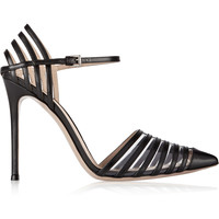 Gianvito Rossi - Cutout leather and PVC pumps